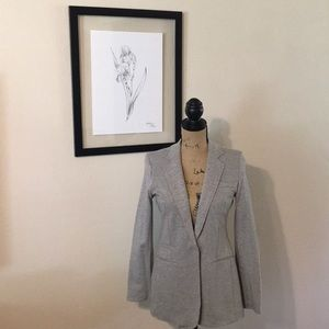 Gray Casual Blazer